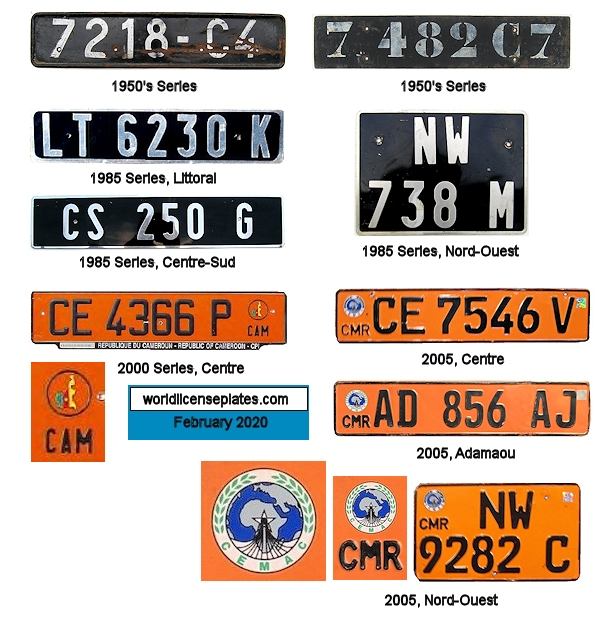 Cameroon License Plates