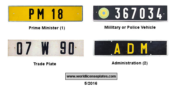 Gabon License Plates