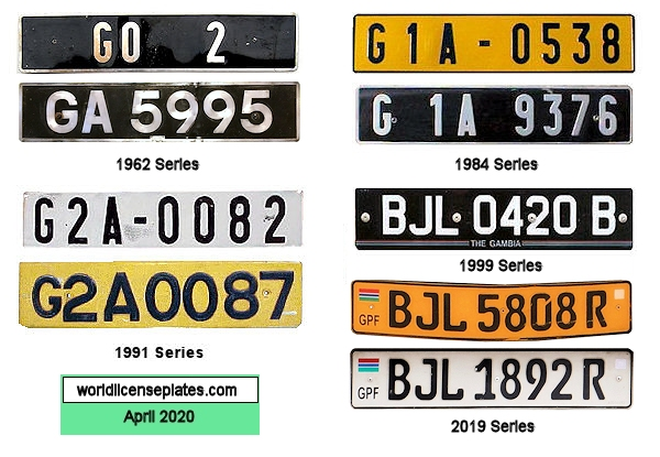 Gambian License Plates