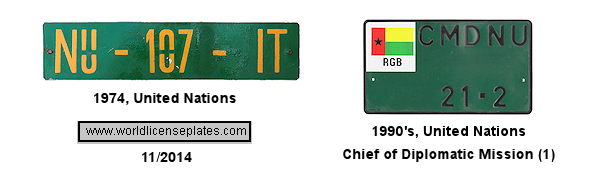 U.N. in Guinea-Bissau License Plates