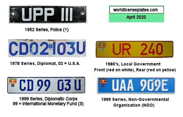 Ugandan License Plates