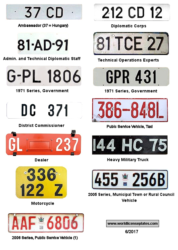Zimbabwe License Plates