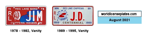 License Plates of the Red Lake Band Chippewa
