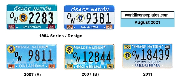 License Plates of the Osage Nation