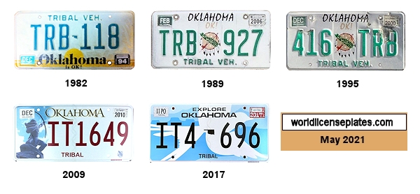 Tribal Vehicle License Plates of Oklahoma
