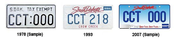 License Plates of the Crow Creek Sioux
