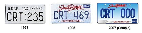 License Plates of the Cheyenne River Sioux