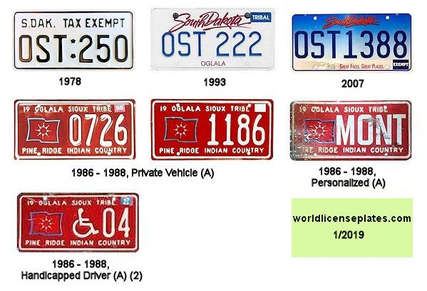 License Plates of the Oglala Sioux