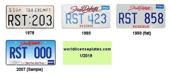 License Plates of the Rosebud Sioux