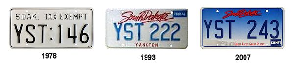 License Plates of the Yankton Sioux