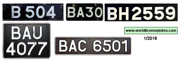 License Plates of Brunei