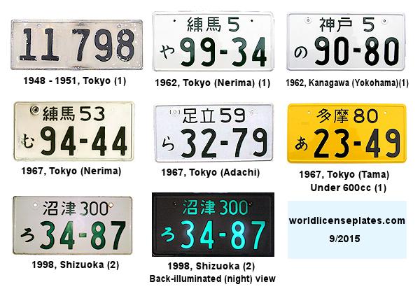 License Plates of Japan