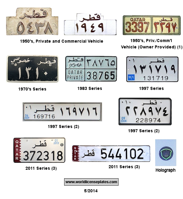 Vehicle Registration Plates Of Qatar Started In 1950 The