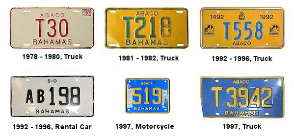 Abaco License Plates