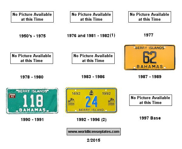 Berry Islands License Plates