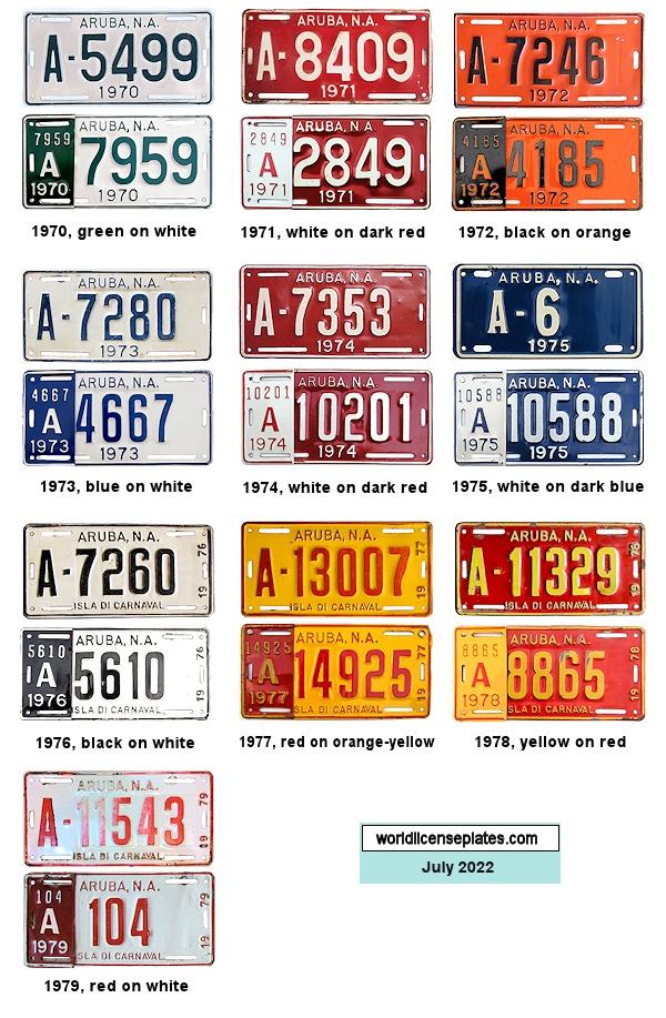 License Plates of Aruba