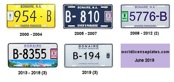 Bonaire License Plates