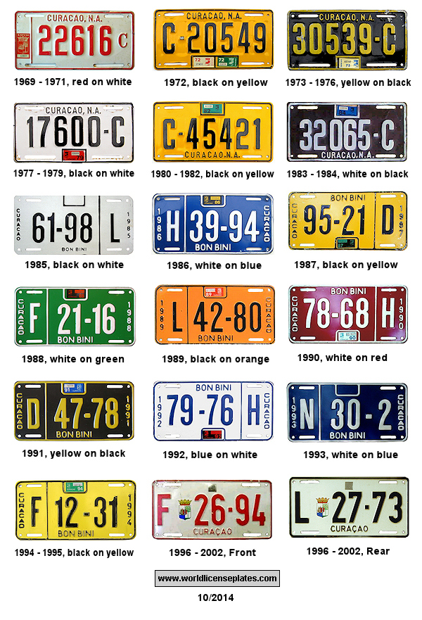 License Plates of Curacao