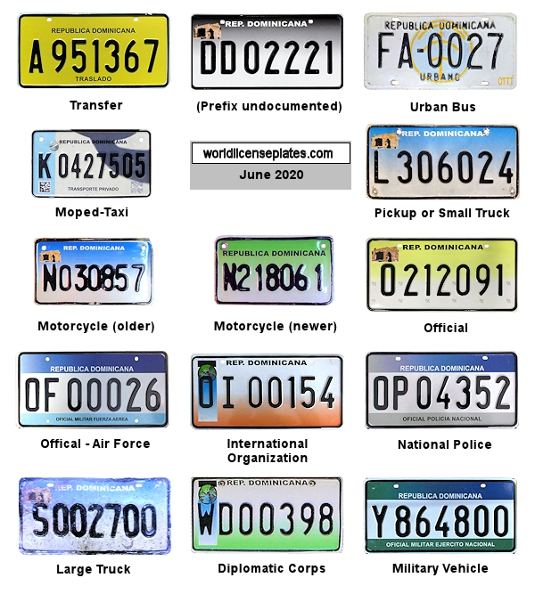 Dominican Republic License Plates