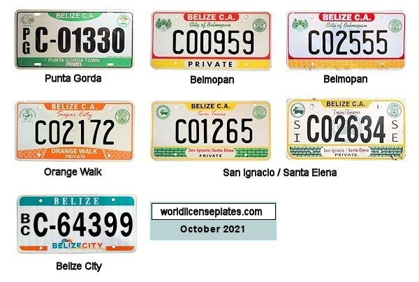 Belize License Plate All Mirror Plate /& Chrome and Regular Vinyl Choices