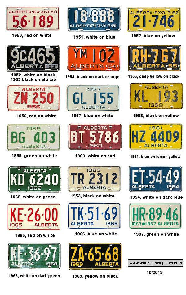 License Plates of Alberta
