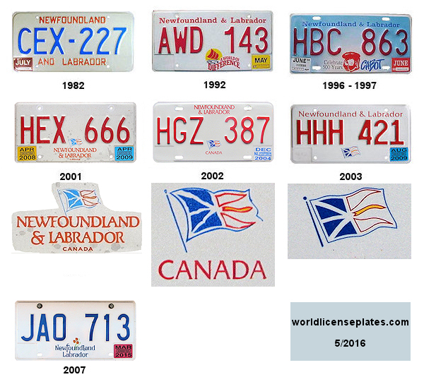 Newfoundland License Plates