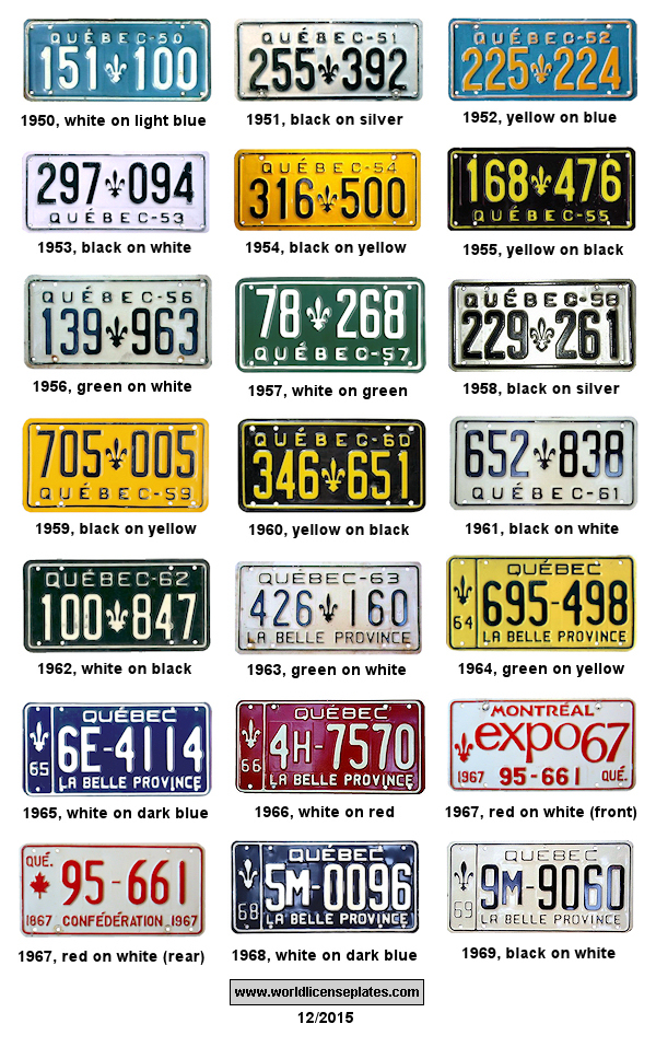 License Plates of Québec