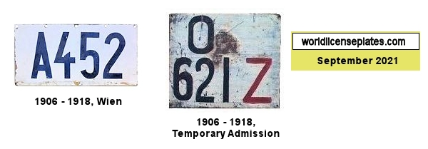 Austrian-Hungarian Empire License Plates