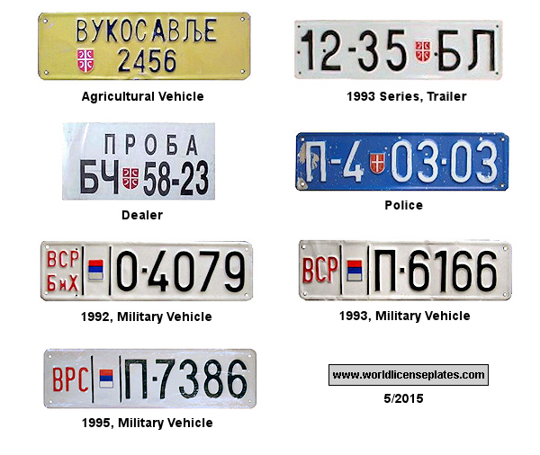 Srpska Republic License Plates