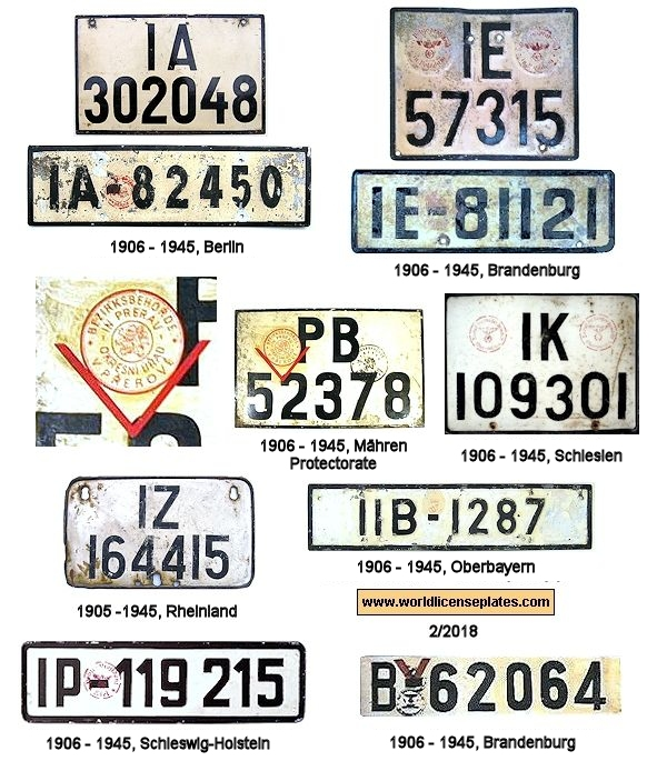License Plates Of Germany Before 1945