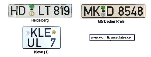 License Plates Of West Germany