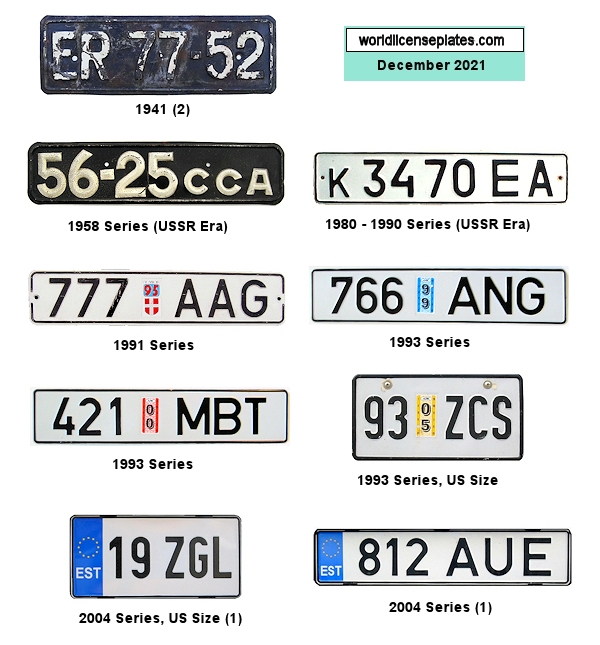 Estonia License Plates