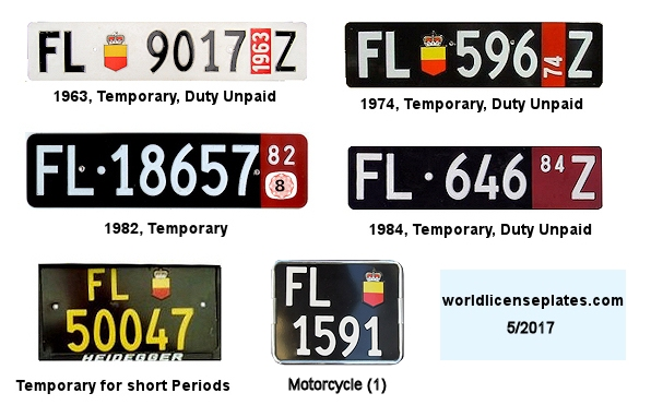 Liechtenstein License Plates