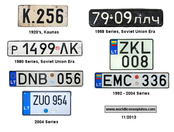 Lithuania License Plates