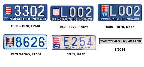 License Plates Of Monaco