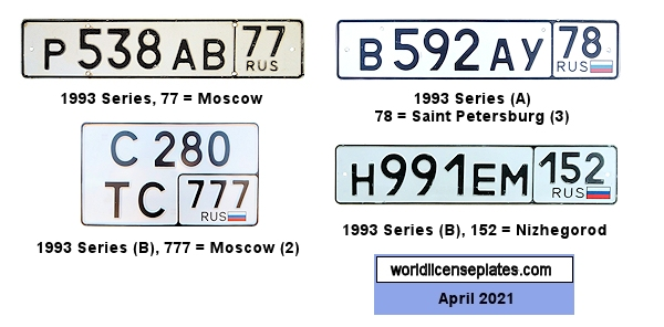 Russian License Plates