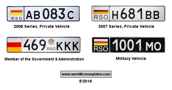 South Ossetia License Plates