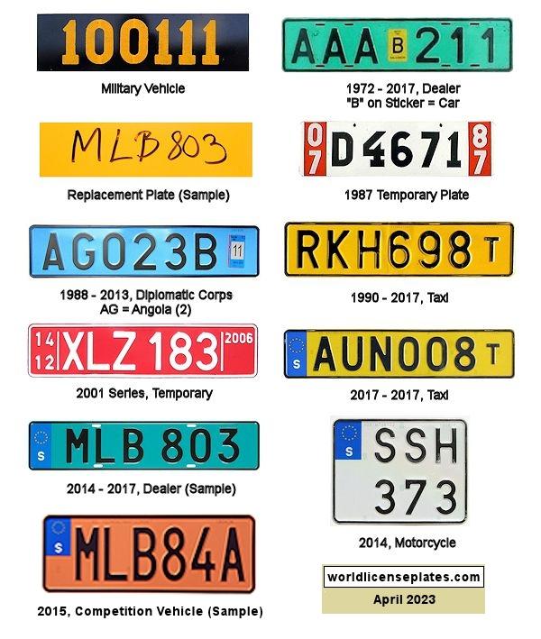 License Plates of Sweden
