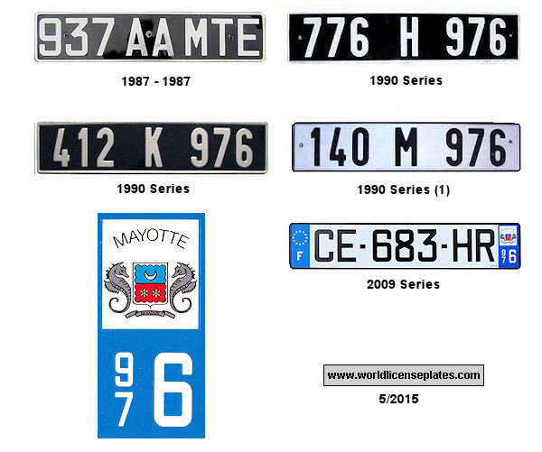 Mayotte License Plates