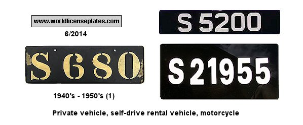 Seychelles License Plates