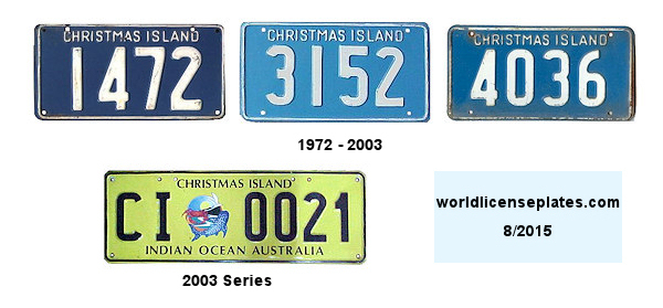 Christmas Islands License Plates