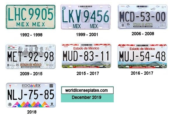 Mexico State License Plates