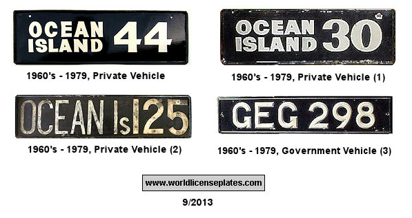 Gilbert & Ellis Islands License Plates