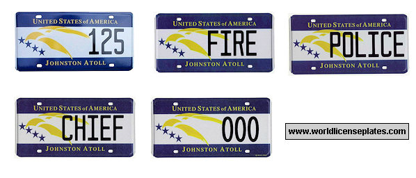 Johnston Atoll License Plates