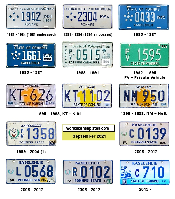 Pohnpei License Plates