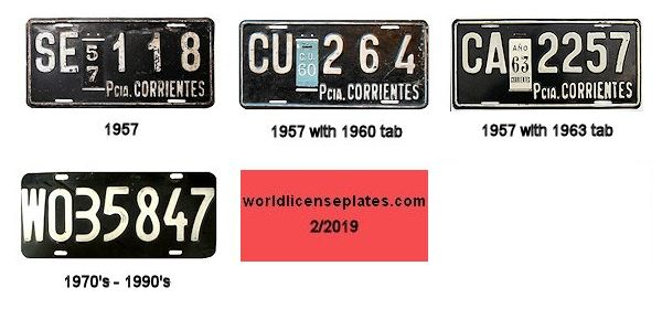 Corrientes License Plates