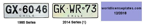 Chilean License Plates