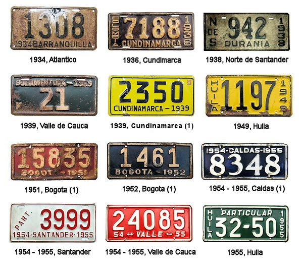 Colombian Columbia Flag License Plates   Brand NEW!!