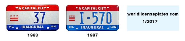 Inauguration License Plates