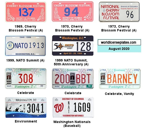 District of Columbia License Plates